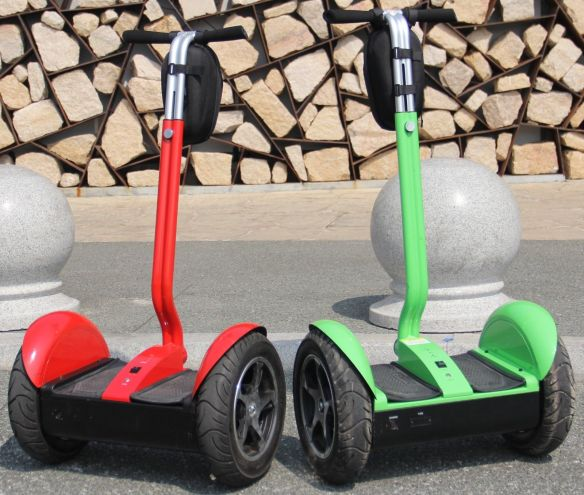 green and red segway