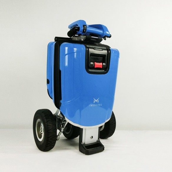 blue imoving scooter