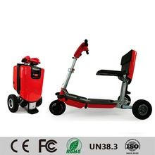 red imoving scooter transformer